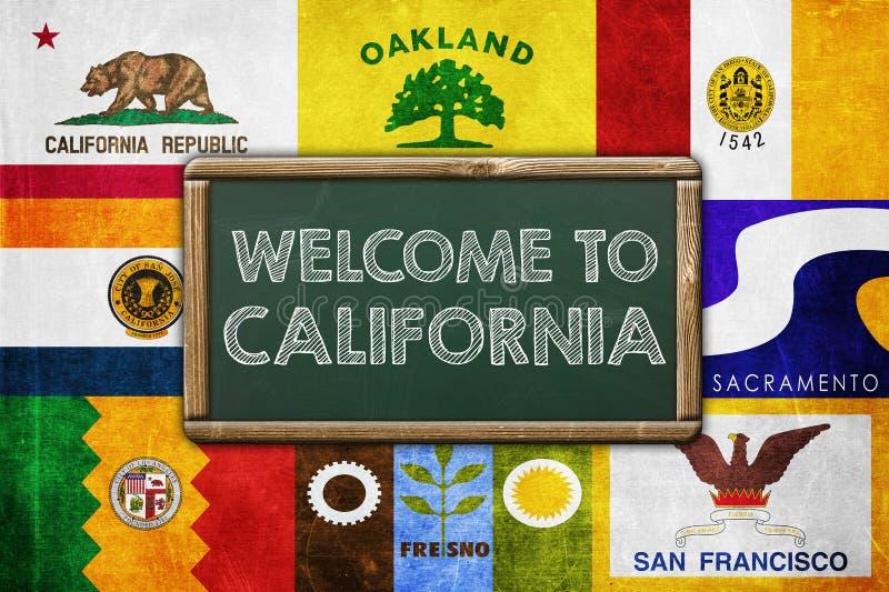 Boa vinda a Califórnia ilustração royalty free