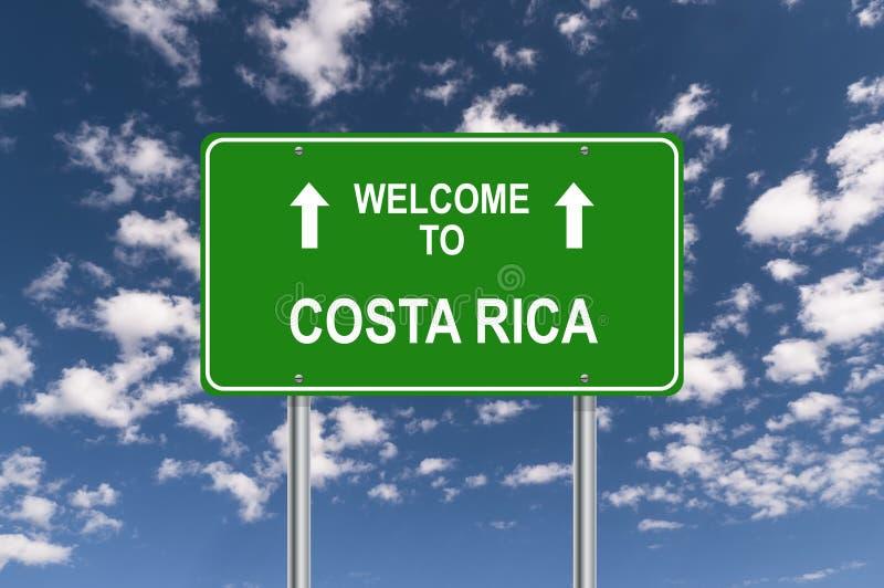 Boa vinda a Costa Rica ilustração royalty free