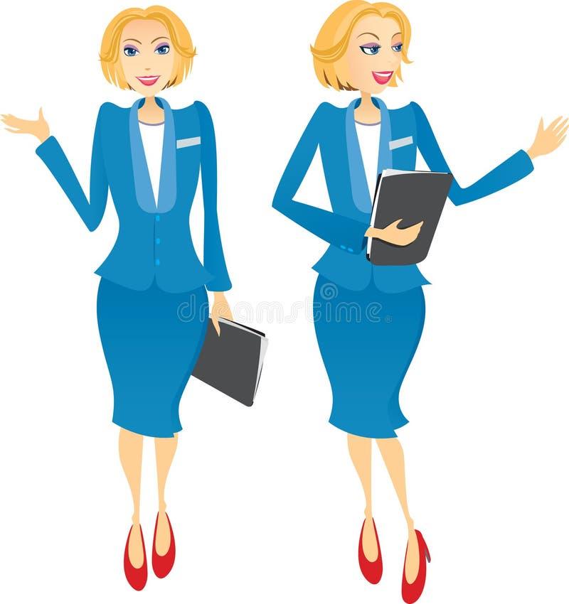 Boa vinda da mulher de negócio ilustração royalty free