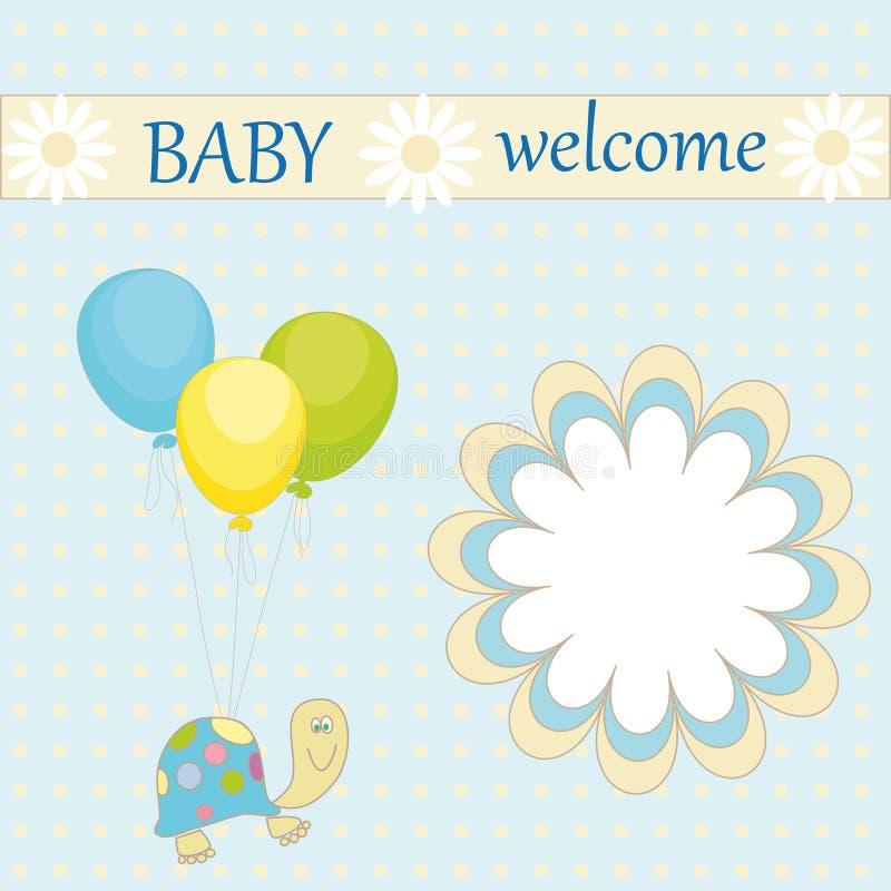 Boa vinda do bebê ilustração royalty free