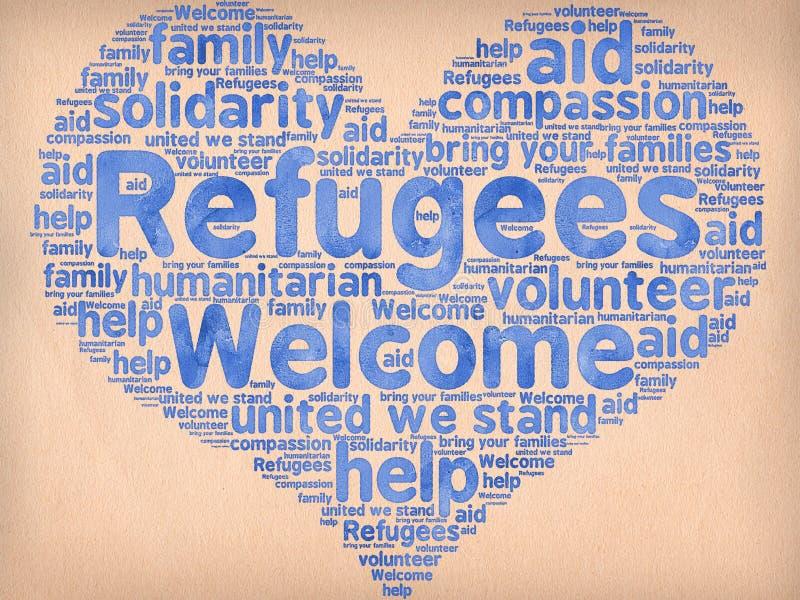 Boa vinda dos refugiados ilustração do vetor