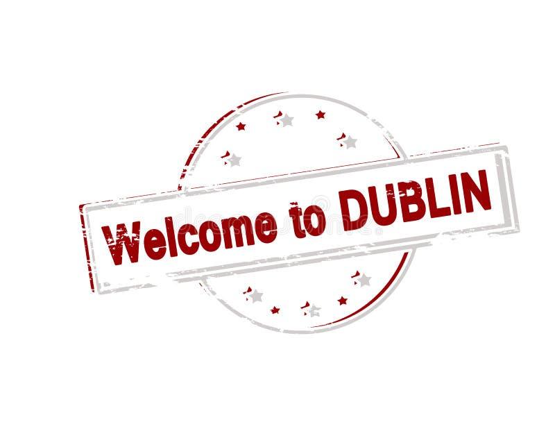 Boa vinda a Dublin ilustração do vetor