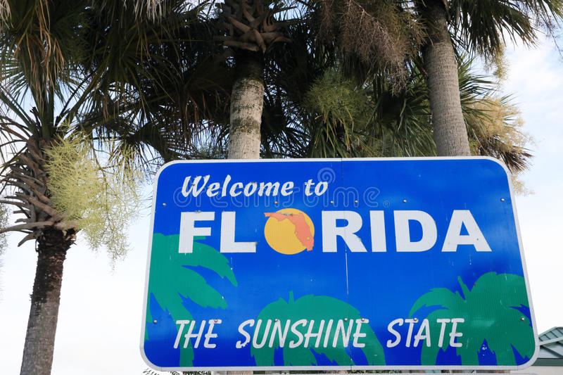 Boa vinda a Florida imagem de stock