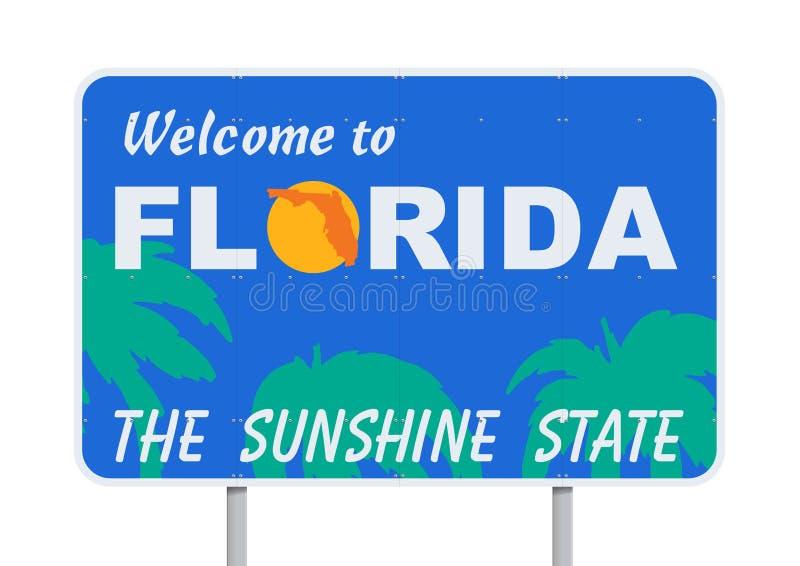 Boa vinda a Florida ilustração stock
