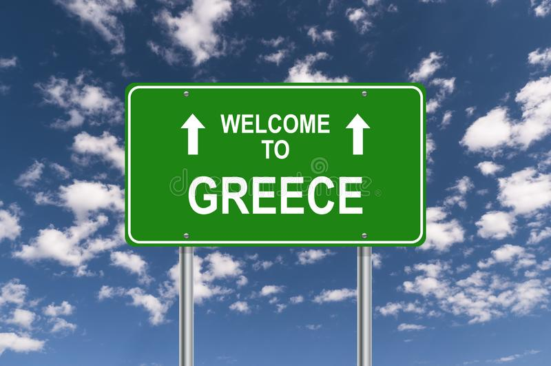Boa vinda a Greece ilustração stock