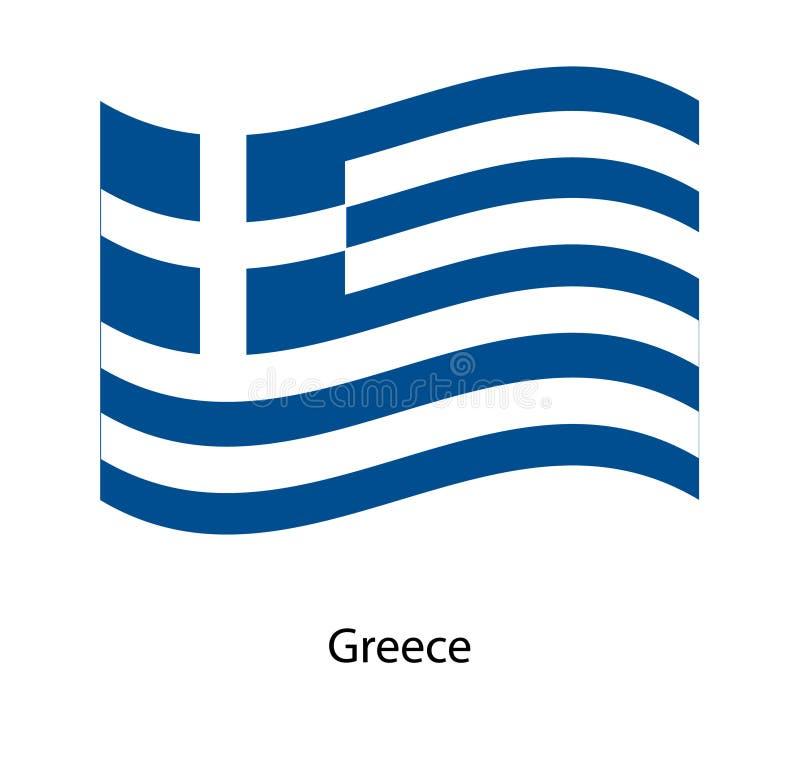 Boa vinda a Greece Bandeira de Greece ilustração do vetor