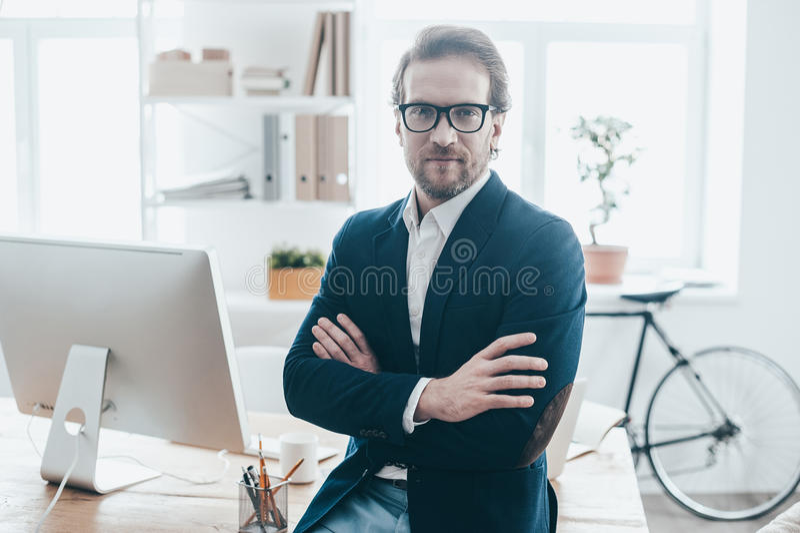 Boa vinda a meu escritório foto de stock royalty free