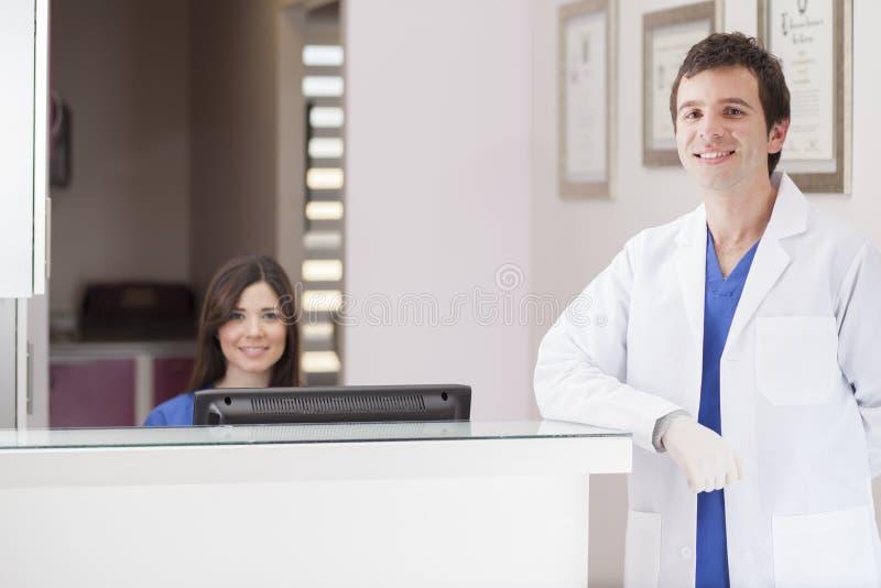 Boa vinda a meu escritório dental imagens de stock royalty free