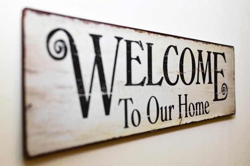 Boa vinda a nossa HOME fotografia de stock royalty free