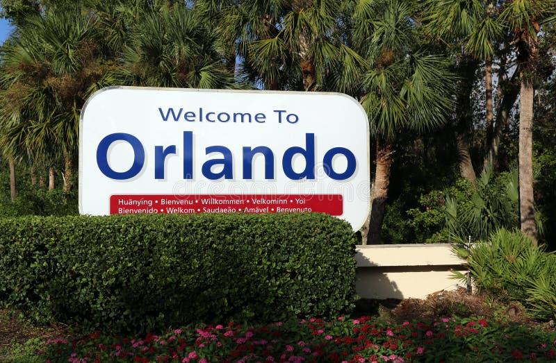 Boa vinda a Orlando fotografia de stock