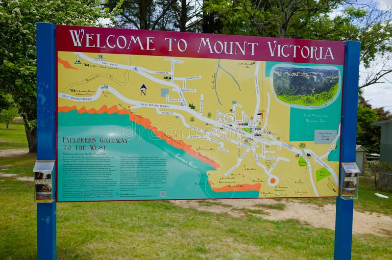 Boa vinda para montar Victoria Sign foto de stock