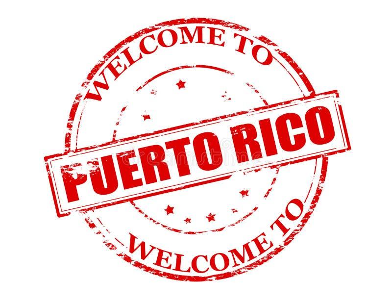Boa vinda a Porto Rico ilustração royalty free