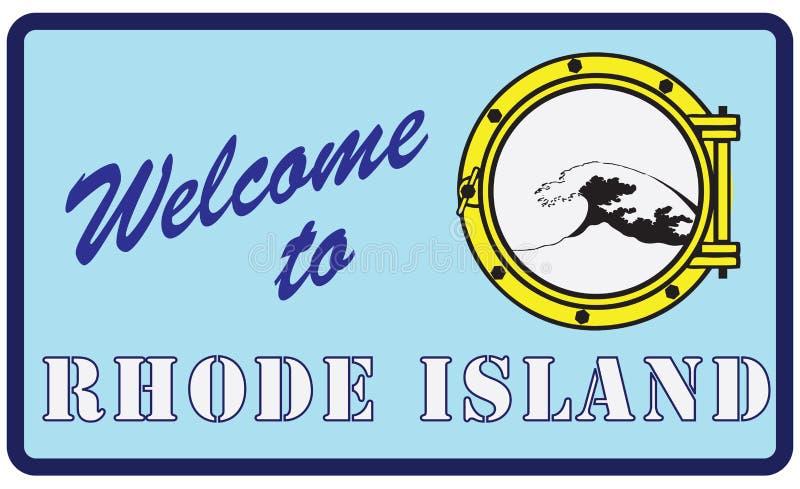 Boa vinda a Rhode - ilha ilustração stock