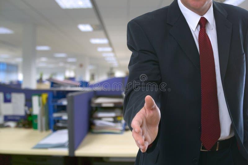 Boa vinda a seu escritório novo fotos de stock royalty free