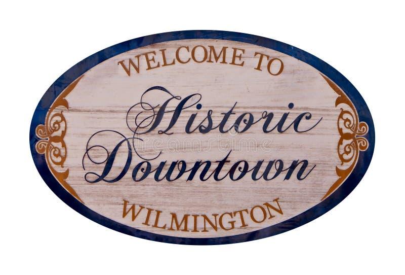 Boa vinda a Wilmington imagem de stock royalty free