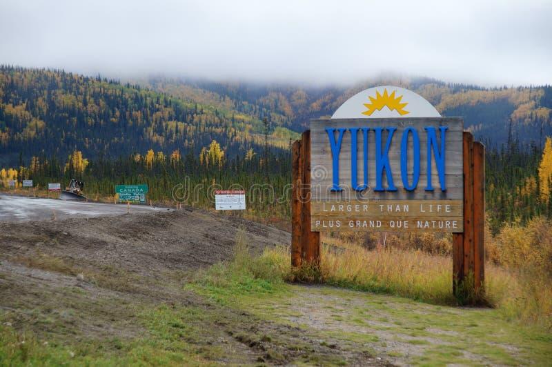 Boa vinda a Yukon fotografia de stock
