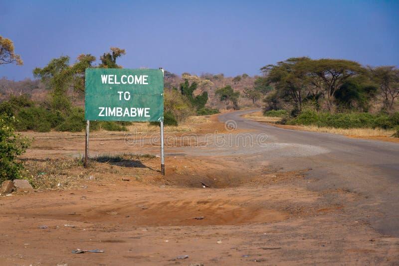 Boa vinda a Zimbabwe imagens de stock