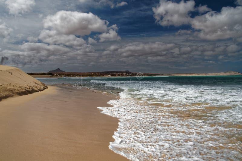 Boa Vista de la isla en Cabo Verde, paisaje - playa imagenes de archivo
