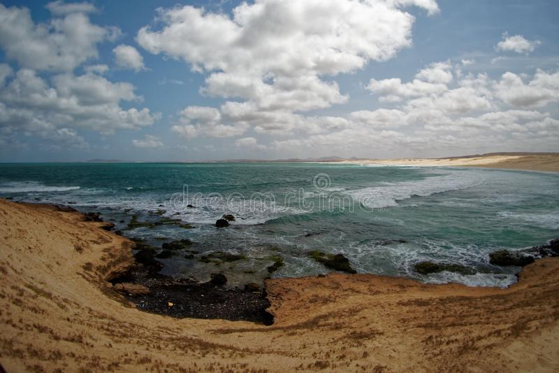 Boa Vista de la isla en Cabo Verde, paisaje - playa foto de archivo libre de regalías