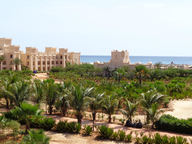 Boa Vista, view from the room stock photography