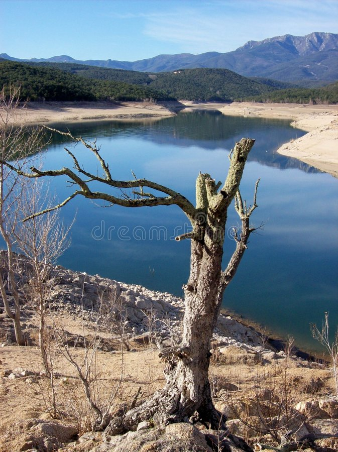 Boadella reservoir 4 royalty free stock photography