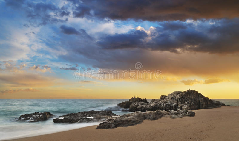 Boadella sunset stock images