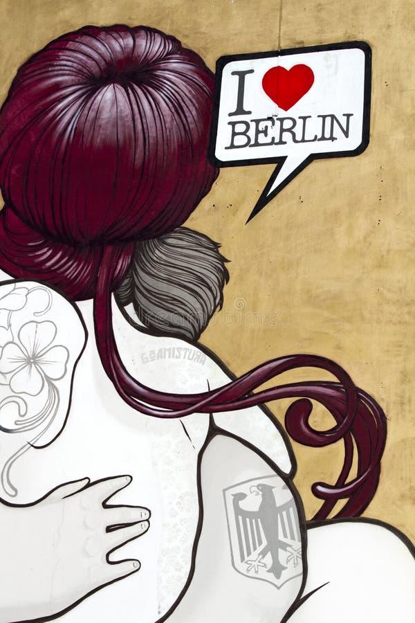 Boamistura Berlijn van Graffiti stock illustratie