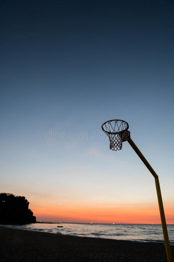 A board less basketball rim stock photography