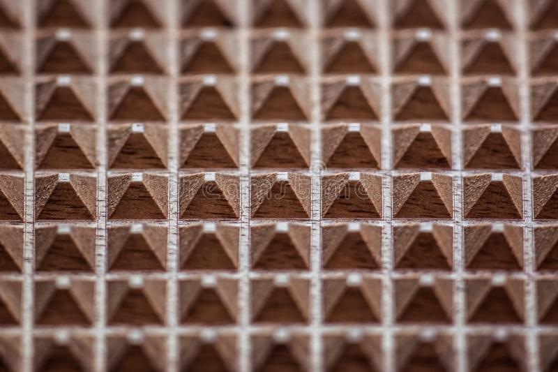 Wooden triangles background texture royalty free stock photo