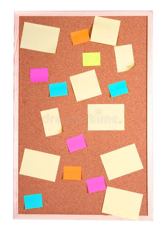 Board with blank papers royalty free stock image