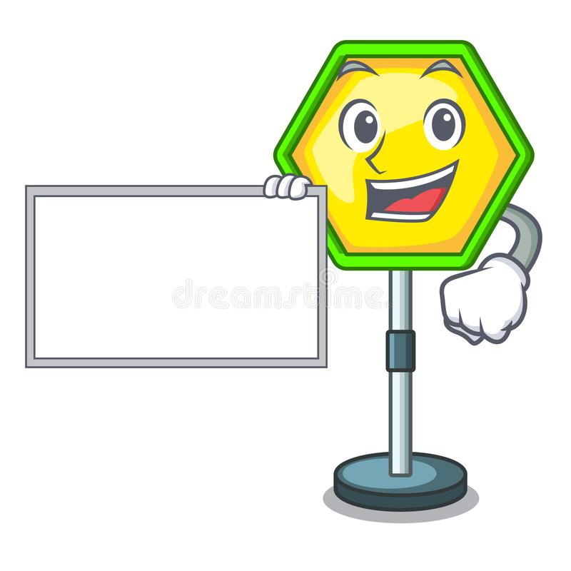 With board character traffic sign regulatory and warning. Vector illustration royalty free illustration