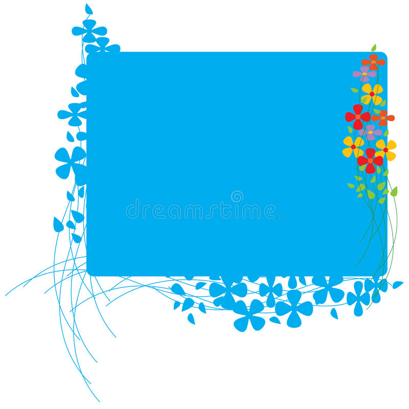 Board With Colorful Flowers Stock Photo