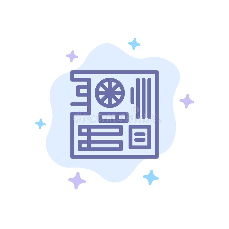 Board, Computer, Main, Mainboard, Mother Blue Icon on Abstract Cloud Background vector illustration