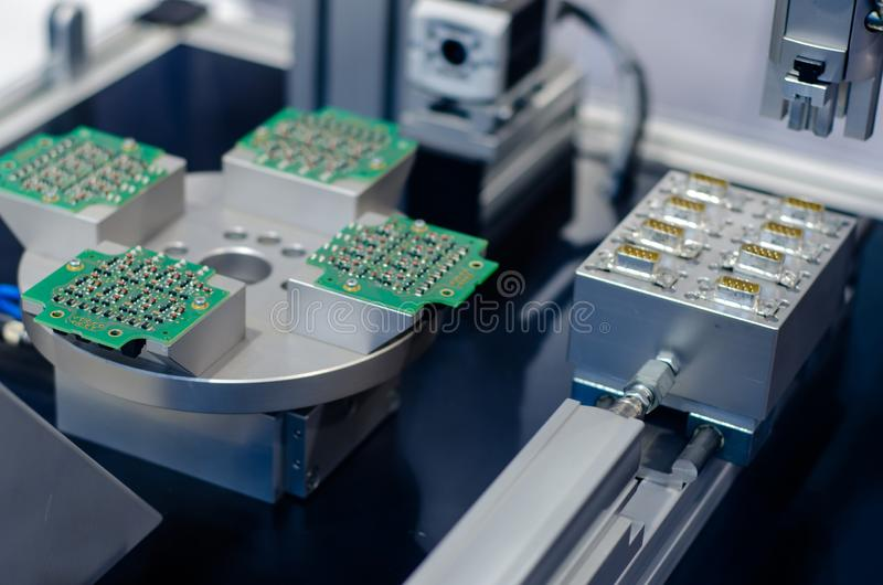 Board and connector production stock photo