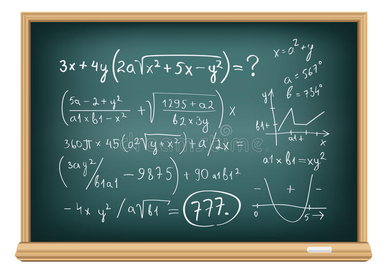 Download Board difficult equations stock vector. Image of geometry - 25449463