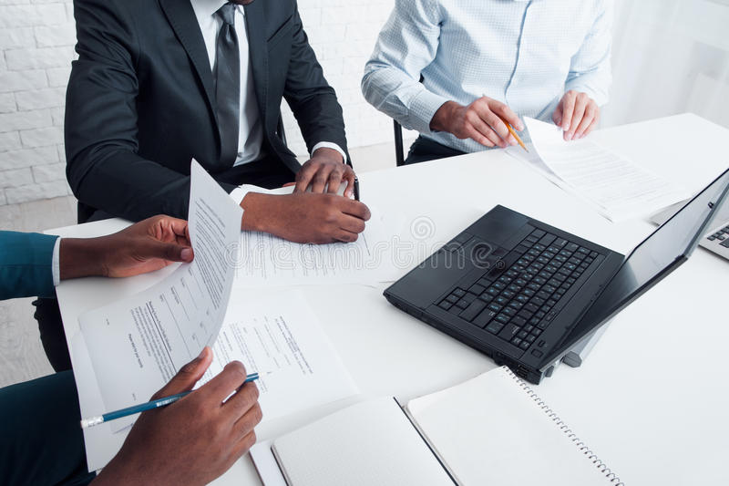 Board of directors business meeting in office royalty free stock photos