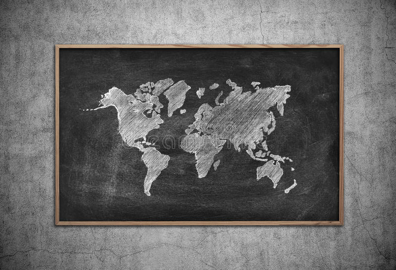 Board with drawing world map stock image image of continent download board with drawing world map stock image image of continent america 57404819 gumiabroncs Image collections