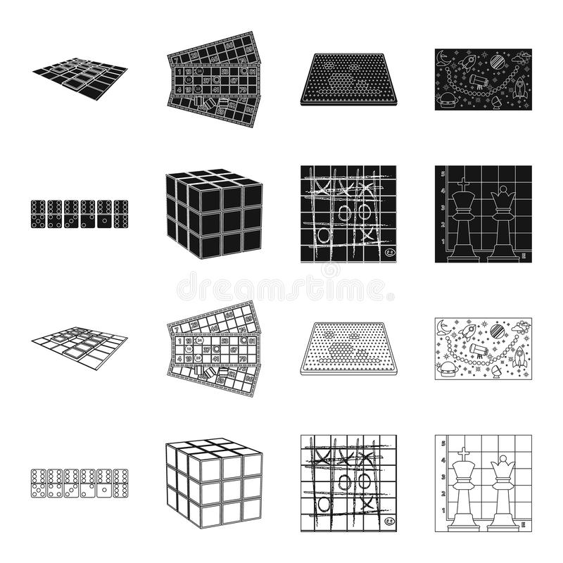 Board Game Blackoutline Icons In Set Collection For Design Game