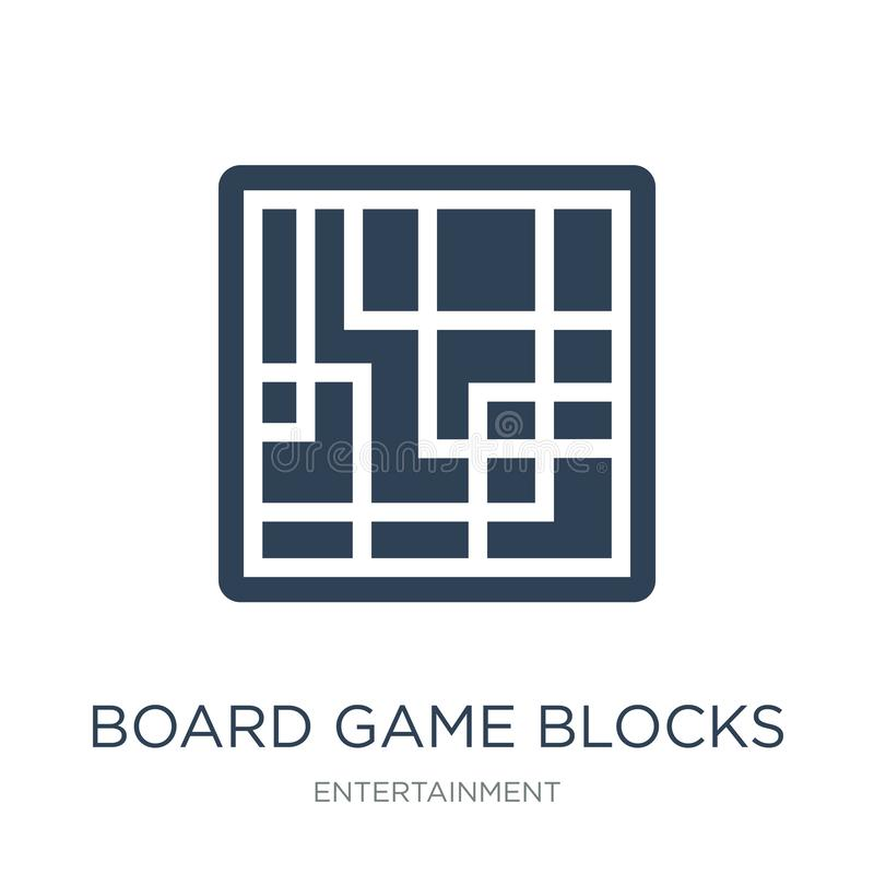 Board game blocks icon in trendy design style. board game blocks icon isolated on white background. board game blocks vector icon. Simple and modern flat symbol royalty free illustration