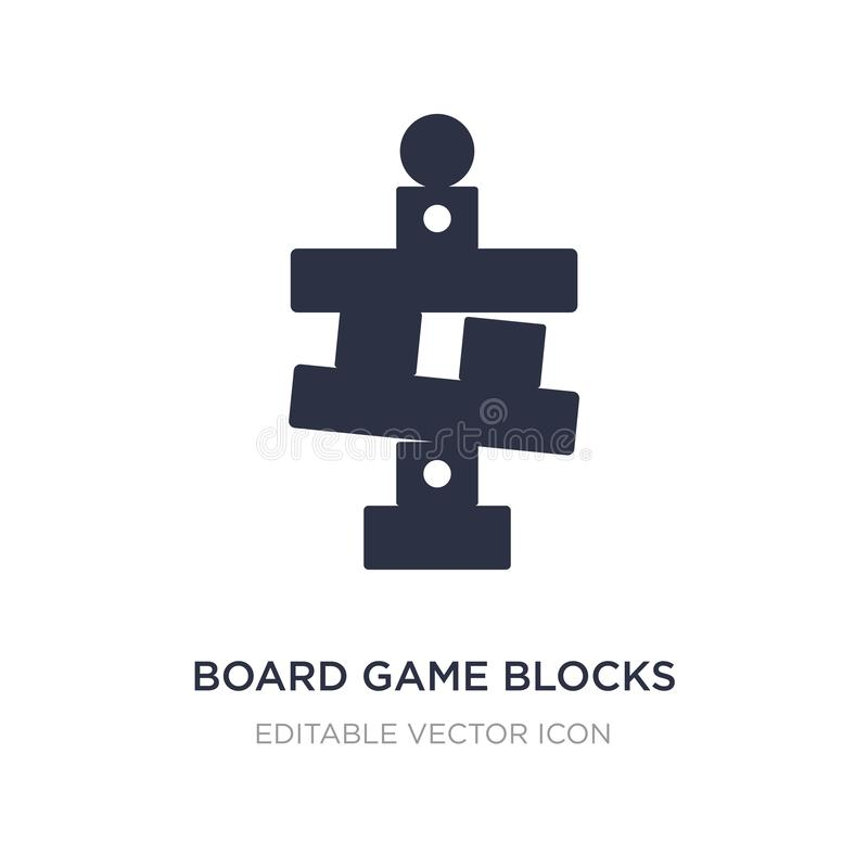 Board game blocks icon on white background. Simple element illustration from Entertainment concept. Board game blocks icon symbol design stock illustration