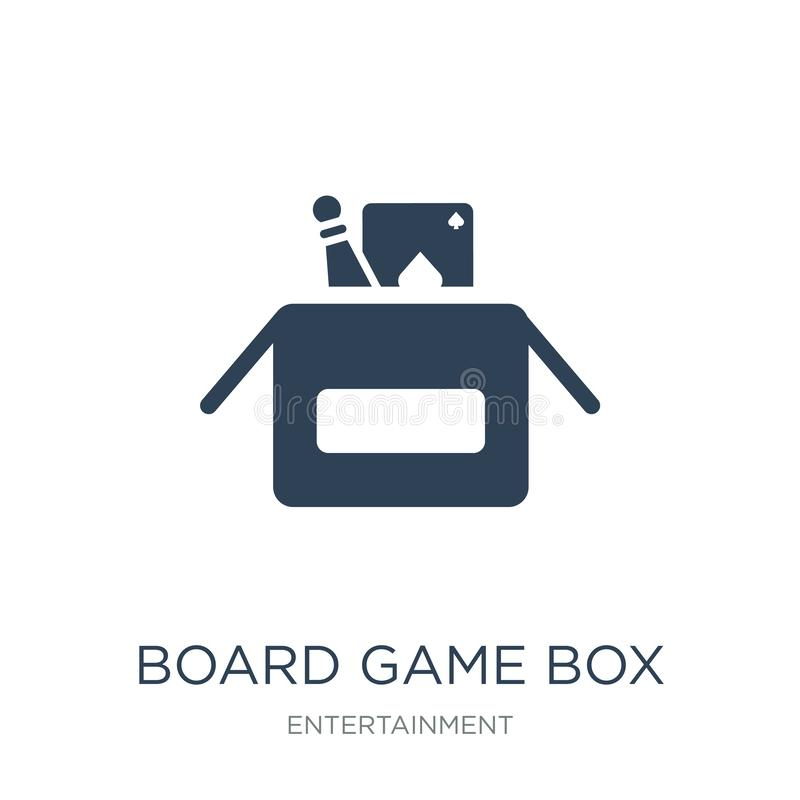 Board game box icon in trendy design style. board game box icon isolated on white background. board game box vector icon simple. And modern flat symbol for web vector illustration