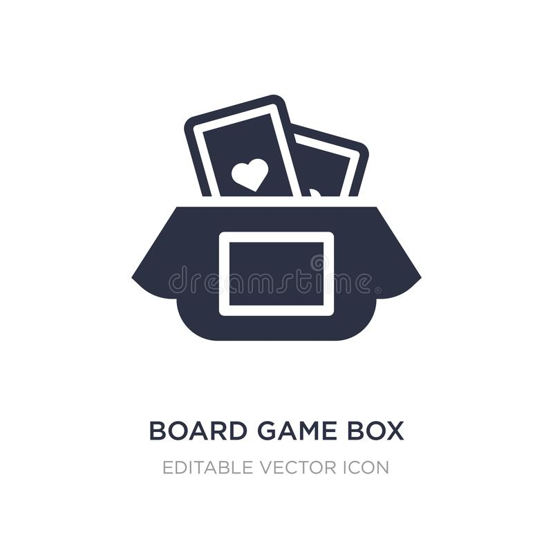 Board game box icon on white background. Simple element illustration from Entertainment concept. Board game box icon symbol design stock illustration