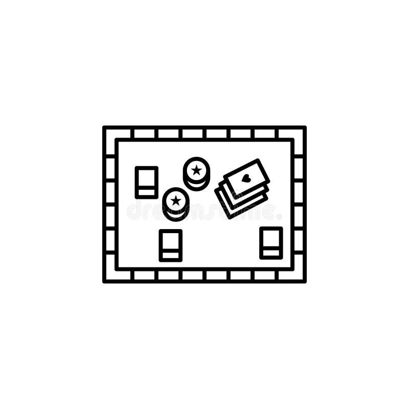 Board game, casino icon. Element of casino icon stock illustration