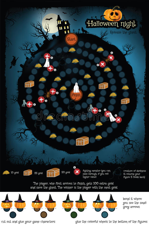 Board Game Ghost Stock Illustrations – 121 Board Game Ghost