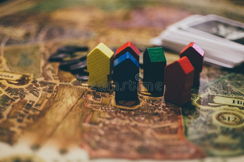 Board game houses royalty free stock photos