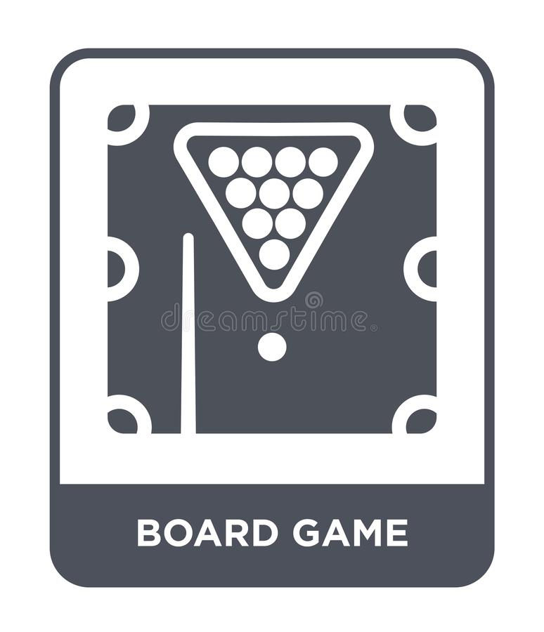 Board game icon in trendy design style. board game icon isolated on white background. board game vector icon simple and modern. Flat symbol for web site, mobile stock illustration