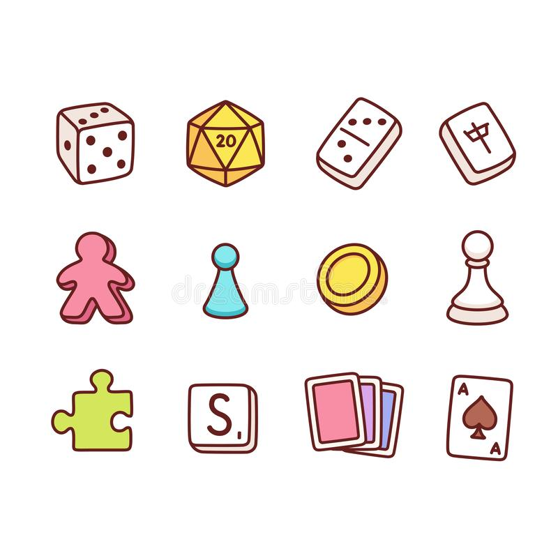 Free Board Game Icons Royalty Free Stock Images - 135047329