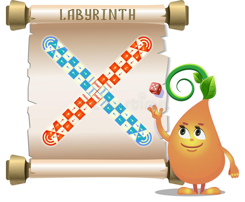 Board game labyrinth royalty free illustration