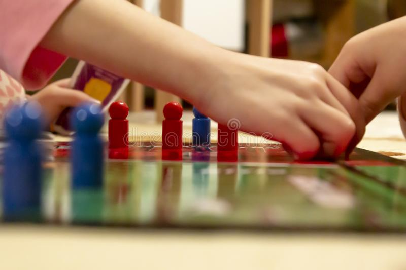 Close up of people playing cross and circle game stock photos