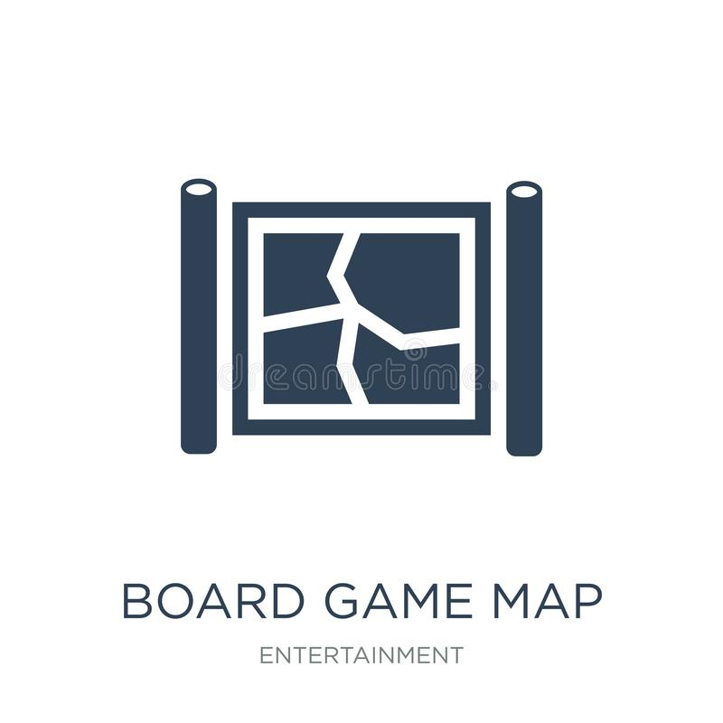 Board game map icon in trendy design style. board game map icon isolated on white background. board game map vector icon simple. And modern flat symbol for web vector illustration